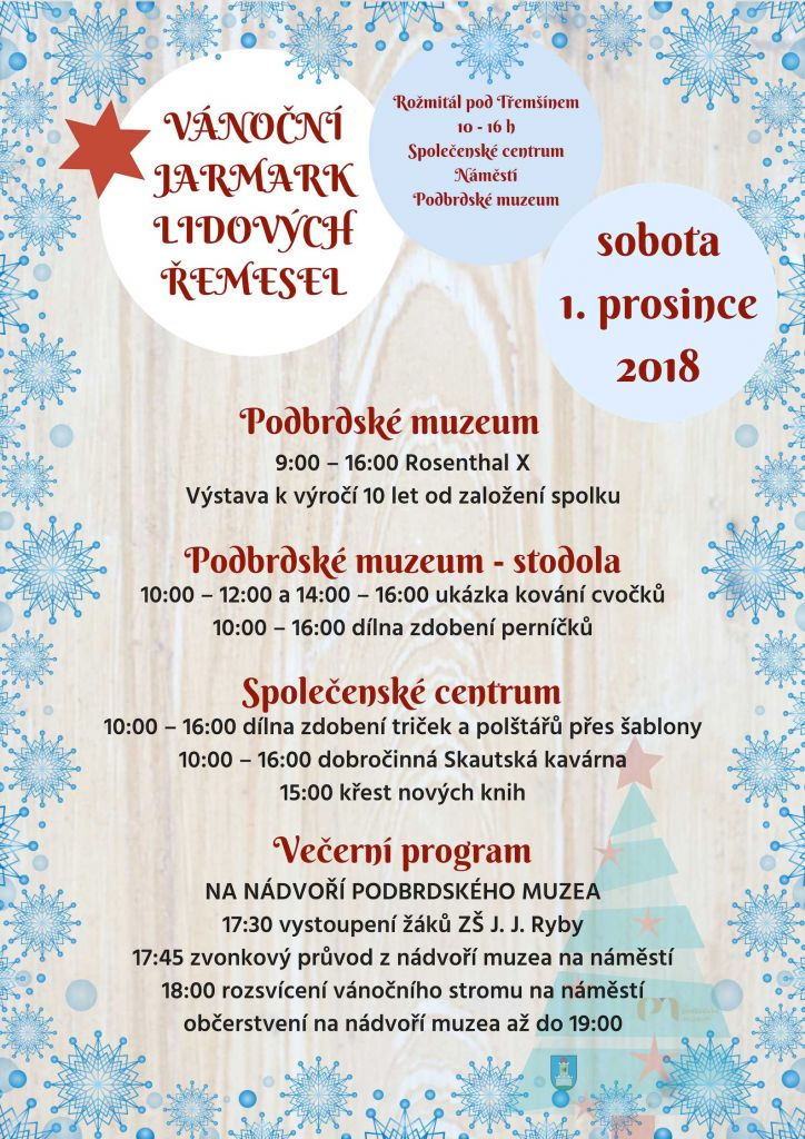 Vánoční jarmark program
